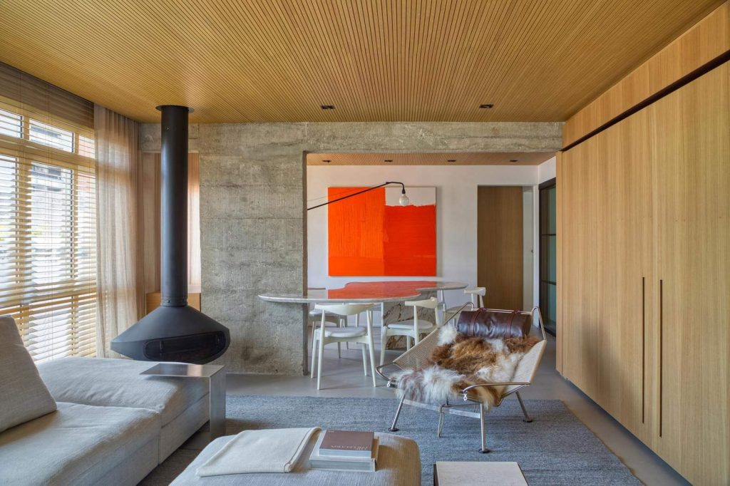 Concrete Interior for young couple - living room
