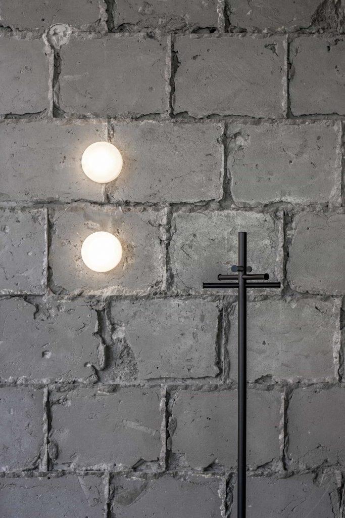 Original concrete brick wall