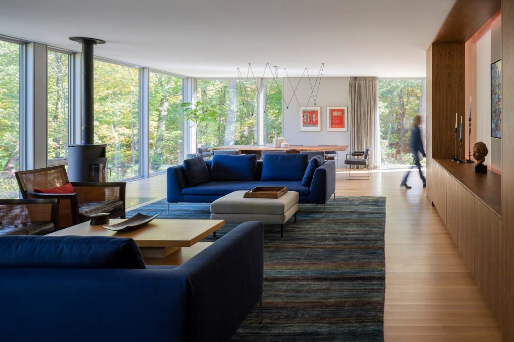house in the woods interior and design