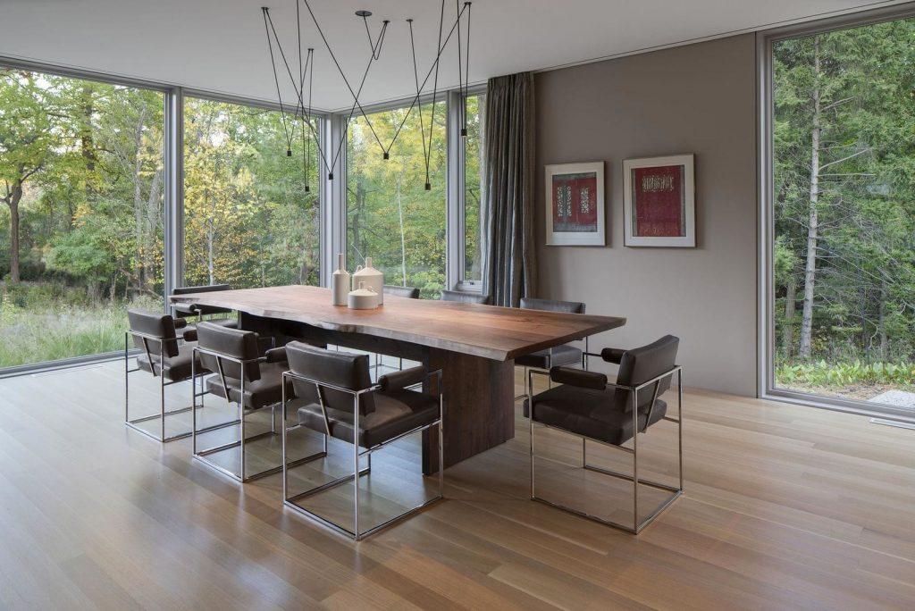 living room walnut decors
